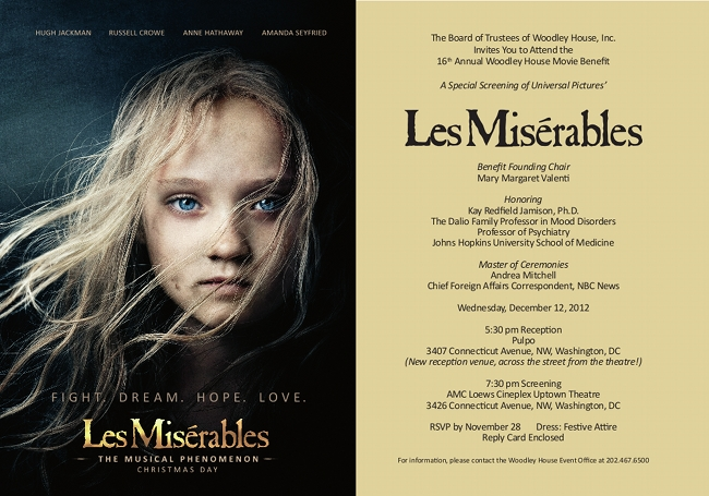 Special Advance Screening Les Misrables WASHINGTON FILM INSTITUTE