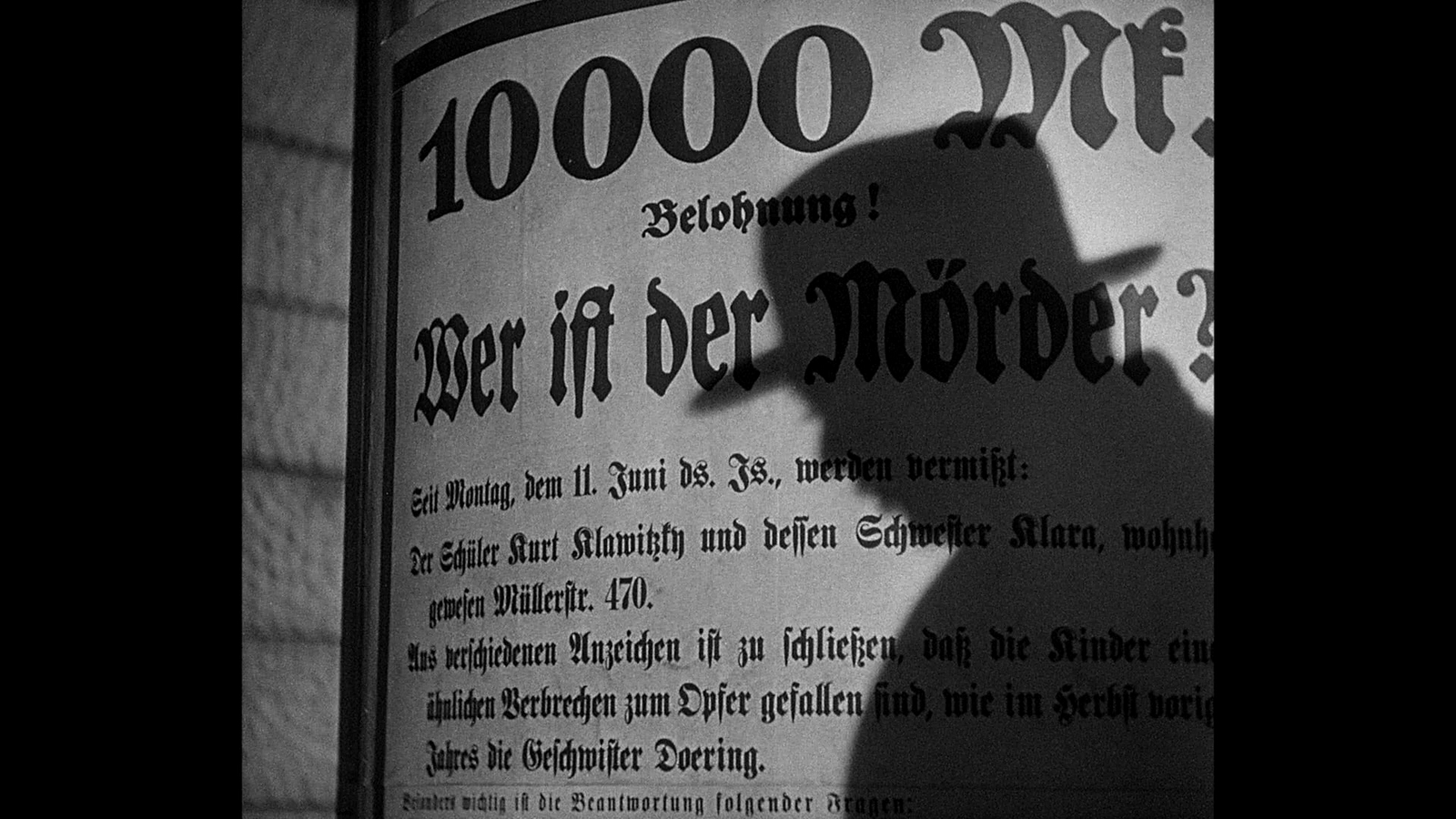 a review of fritz langs movie m Movie film essays - effective use of sound techniques in fritz lang's film, m.